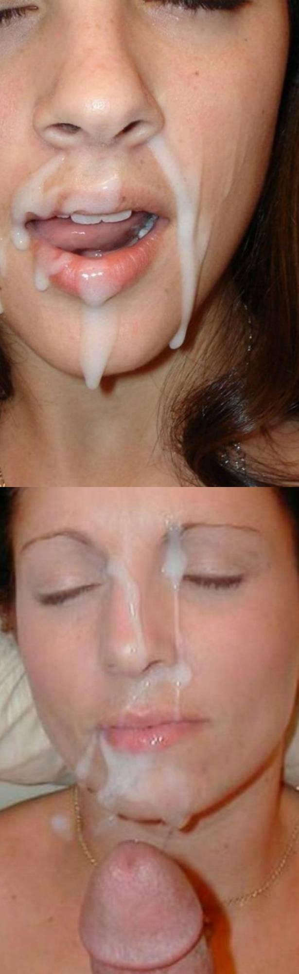 сперма в рот жене